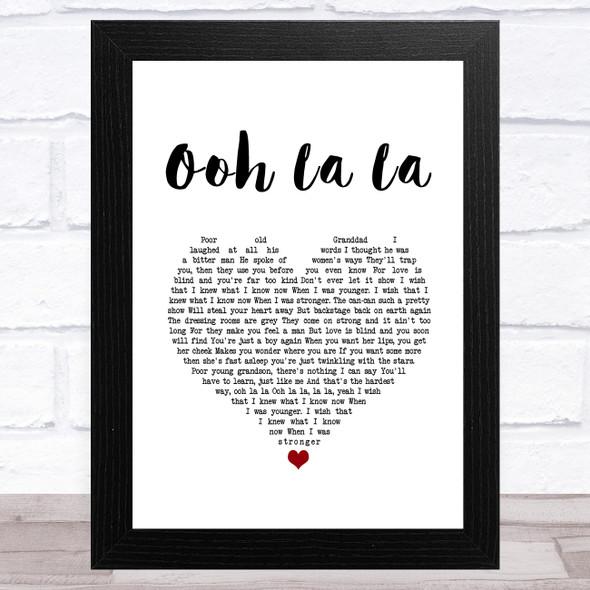 Rod Stewart Ooh La La White Heart Song Lyric Music Art Print