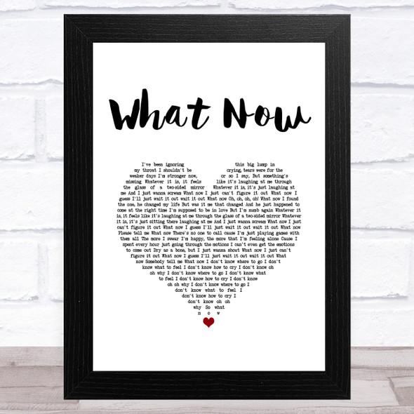Rihanna What Now White Heart Song Lyric Music Art Print