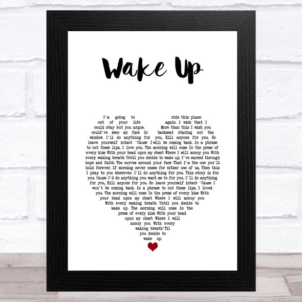 Coheed and Cambria Wake Up White Heart Song Lyric Music Art Print