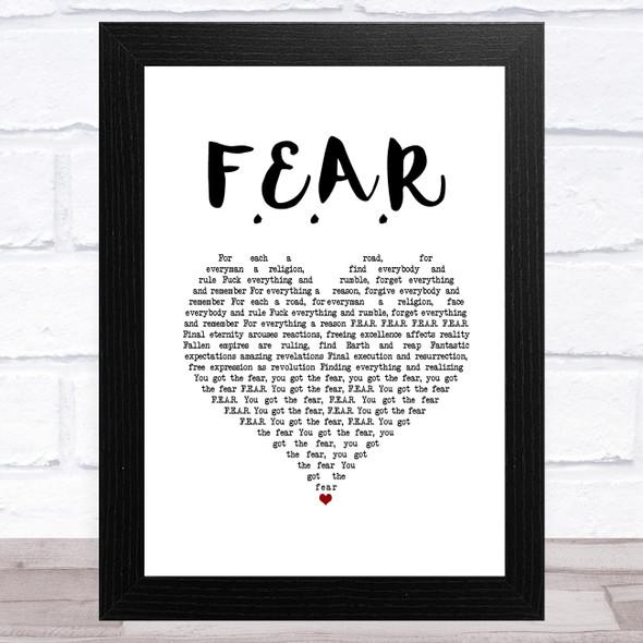Ian Brown F.E.A.R White Heart Song Lyric Music Art Print