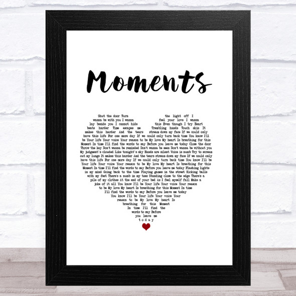 One Direction Moments White Heart Song Lyric Music Art Print