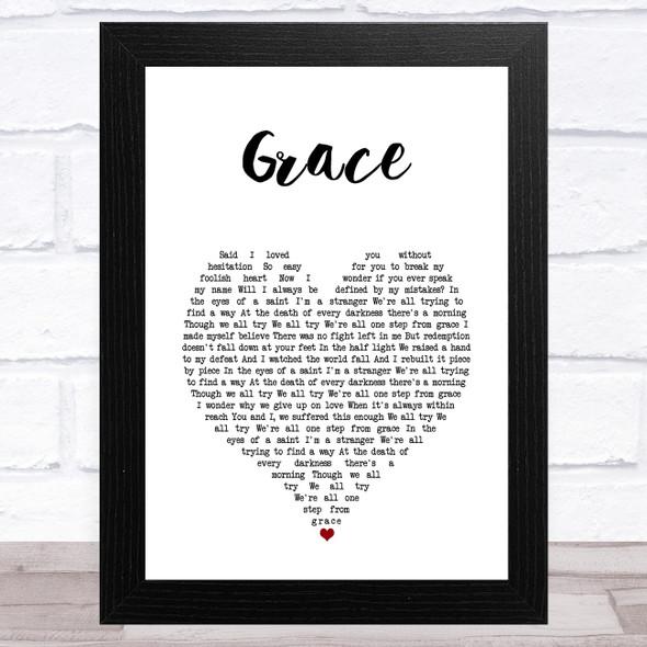 Rag'n'Bone Man Grace White Heart Song Lyric Music Art Print