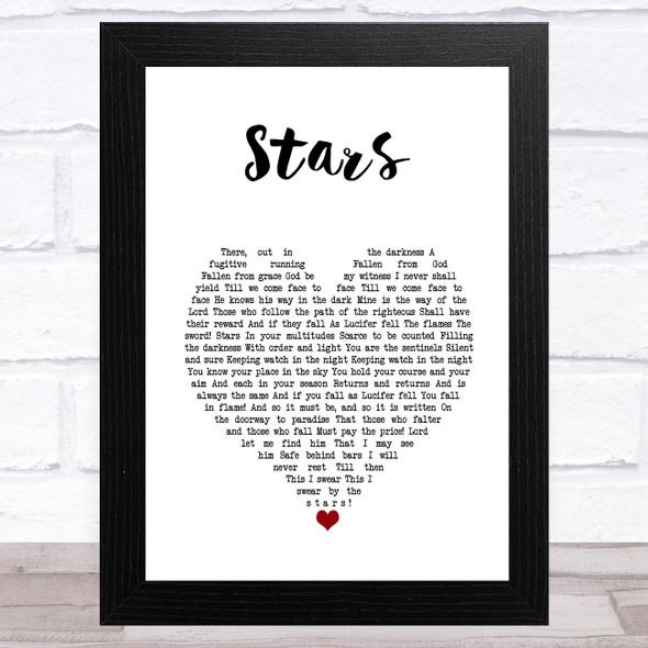 Russell Crowe Stars White Heart Song Lyric Music Art Print