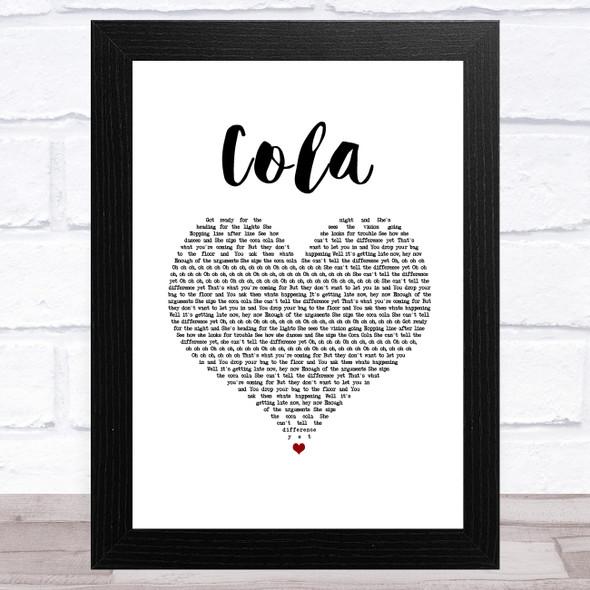 CamelPhat & Elderbrook Cola White Heart Song Lyric Music Art Print