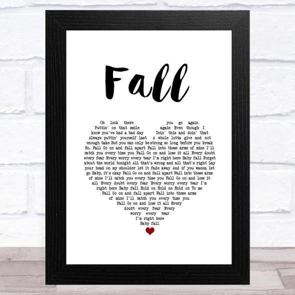 Clay Walker Fall White Heart Song Lyric Music Art Print