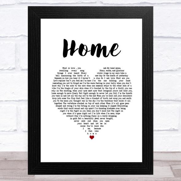 Imelda May Home White Heart Song Lyric Music Art Print