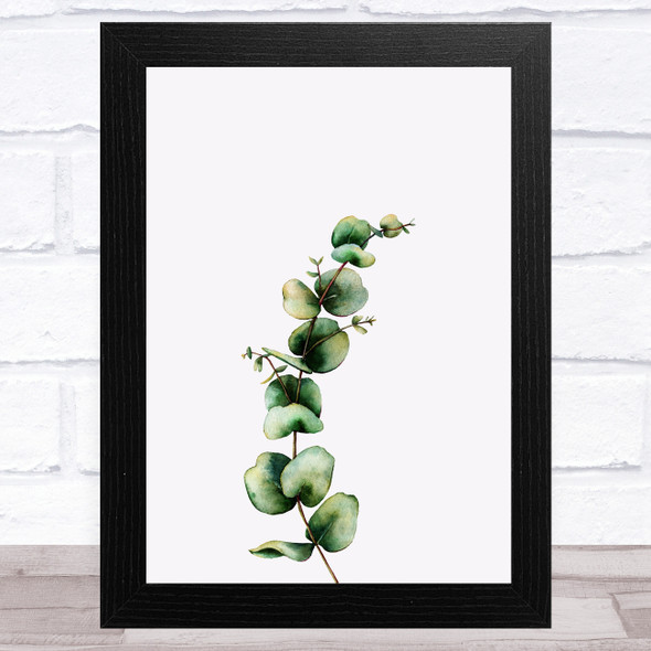 Watercolour Eucalyptus Design 1 Home Wall Art Print