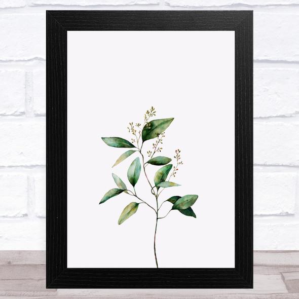 Watercolour Eucalyptus Design 2 Home Wall Art Print