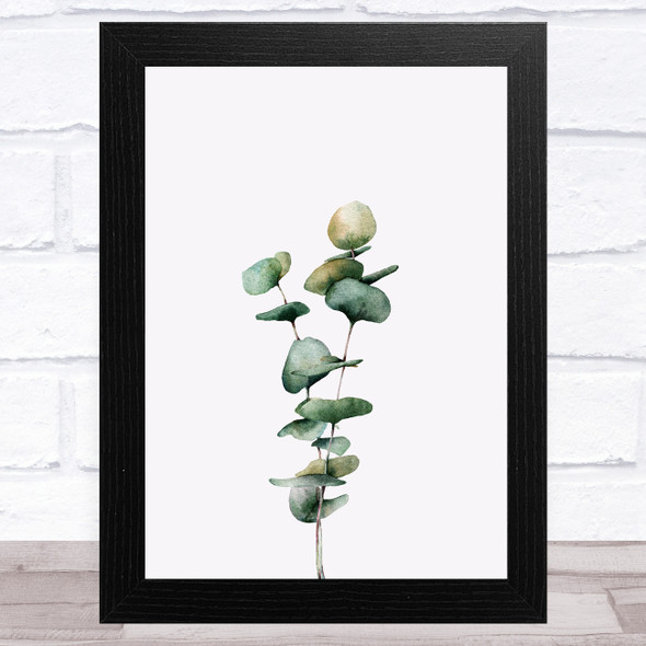 Watercolour Eucalyptus Design 3 Home Wall Art Print
