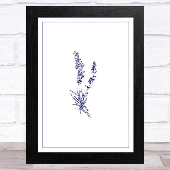 Lavender Illustration Design 5 Home Wall Art Print