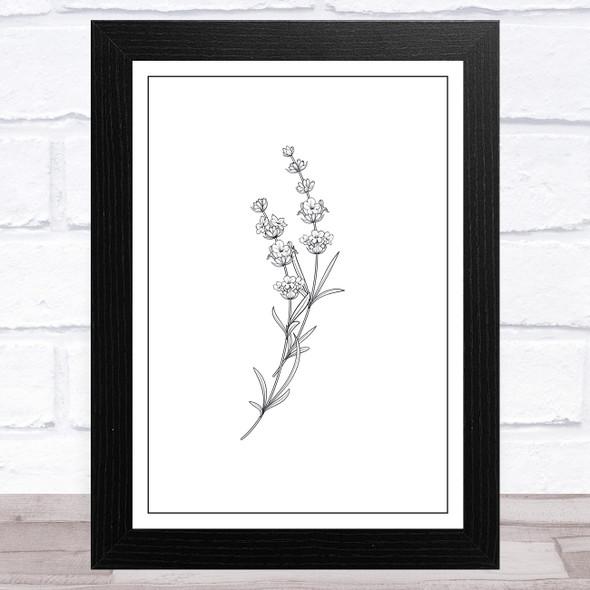 Vintage Simple Lavender Flower Home Wall Art Print
