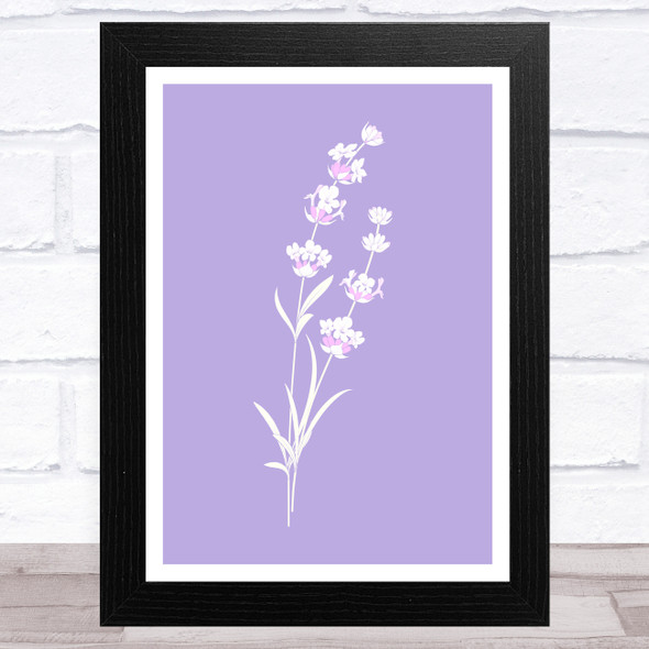 Lavender Flowers Pink Notes Home Wall Art Print