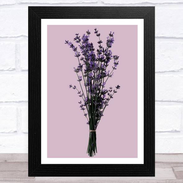 Dusky Rose Lavender Floral Home Wall Art Print