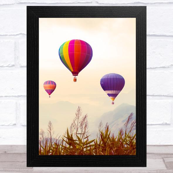 Hot Air Balloons Design 3 Home Wall Art Print