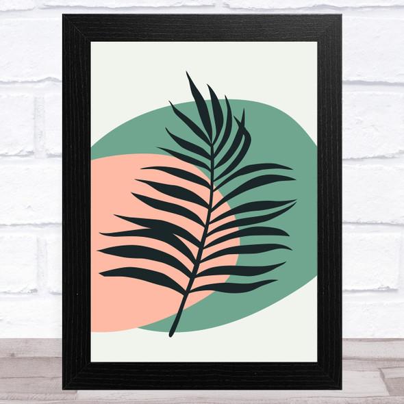 Tropical Leaves Circles Home Wall Art Print