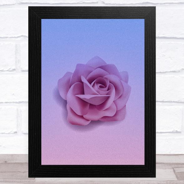 Pink Purple Rose Home Wall Art Print