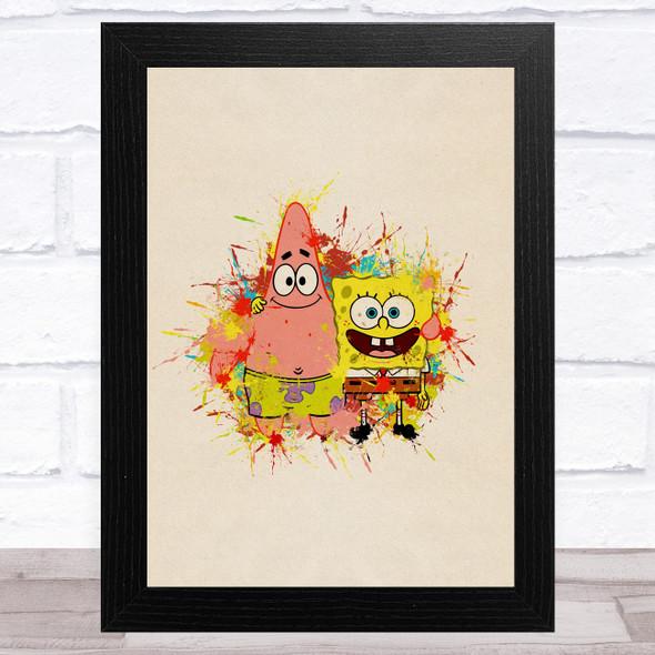 Spongebob Squarepants Patrick Star Children's Kid's Wall Art Print