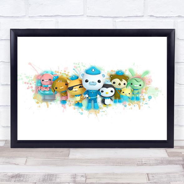 Octonauts The Gang Splatter Art Children's Kid's Wall Art Print