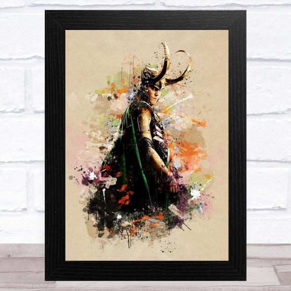 Loki Marvel Abstract Children's Kid's Wall Art Print