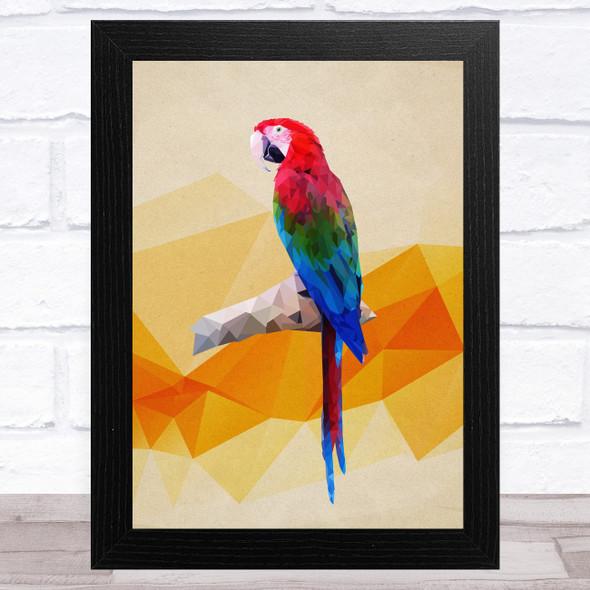 Parrot Polygon Style Animal Wall Art Print