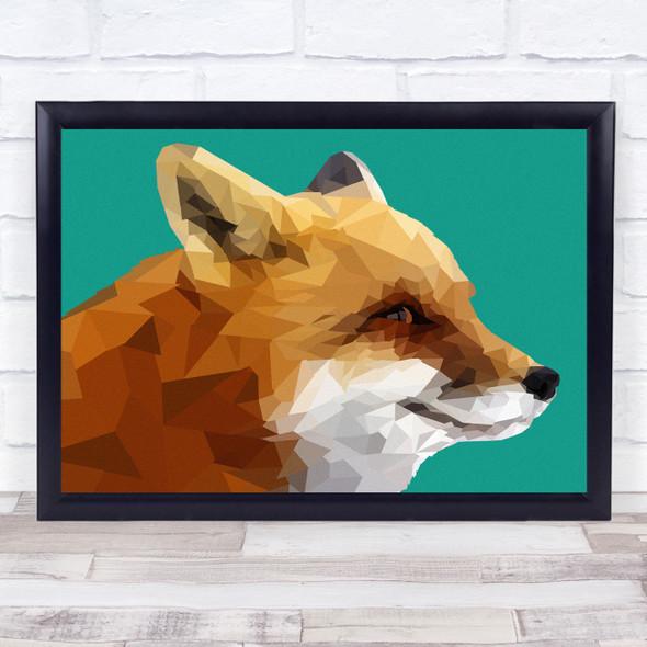 Fox Polygon Style Animal Wall Art Print