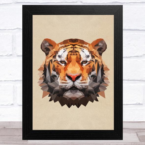 Tiger Polygon Animal Wall Art Print