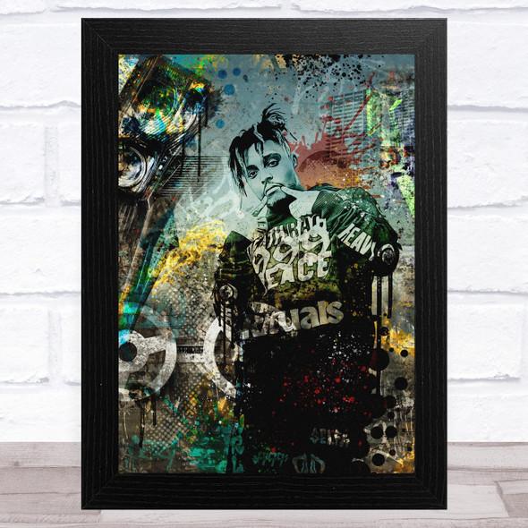 Juice Wrld Rapper Iconic Celeb Wall Art Print