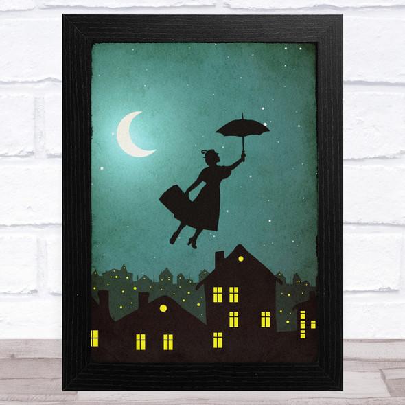 Mary Poppins Night Movie Poster Film Wall Art Print