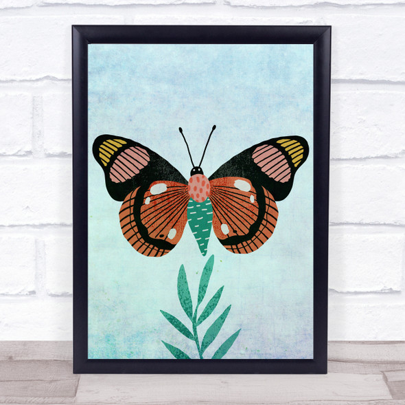 Butterfly Watercolour Minimalist Wall Art Print