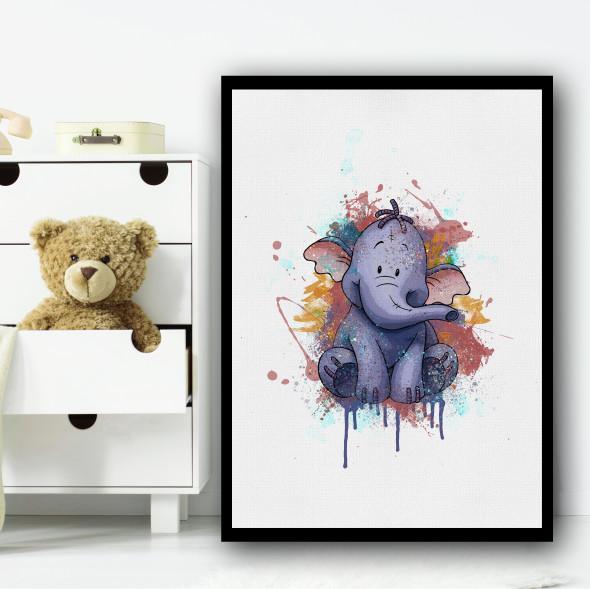 Lumpy Elephant Winnie The Pooh Wall Art Print