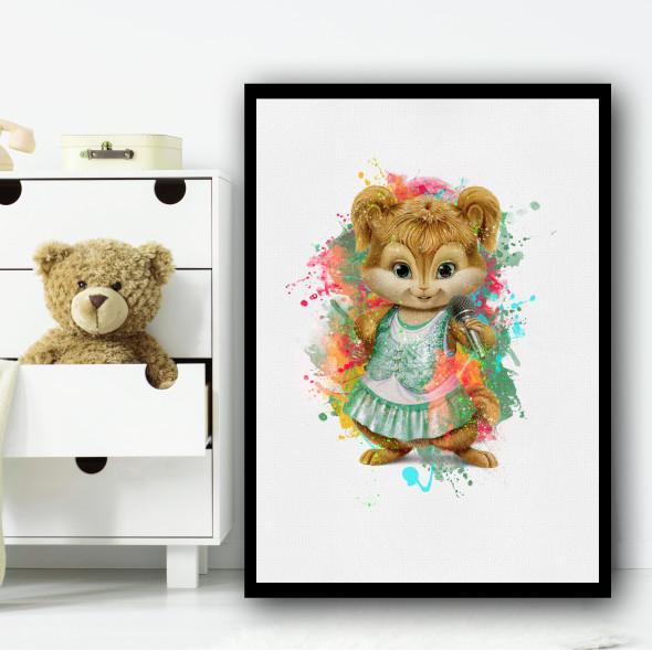 The Chipettes Eleanor Splatter Wall Art Print