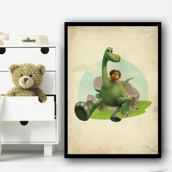 The Good Dinosaur Arlo Vintage Wall Art Print