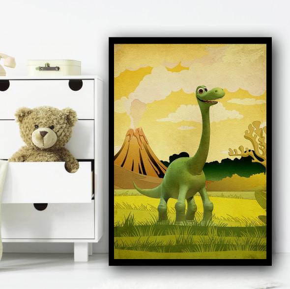The Good Dinosaur Arlo Volcano Wall Art Print