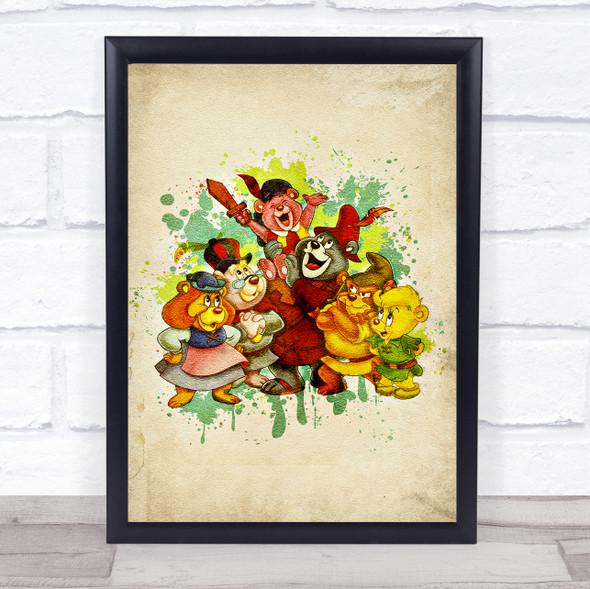 Adventures Of The Gummi Bears Wall Art Print