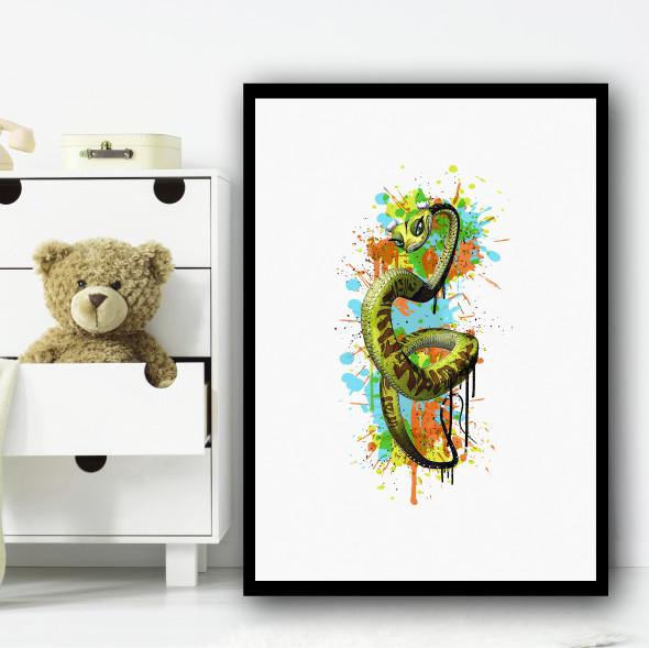 Kung Fu Panda Viper Splatter Wall Art Print