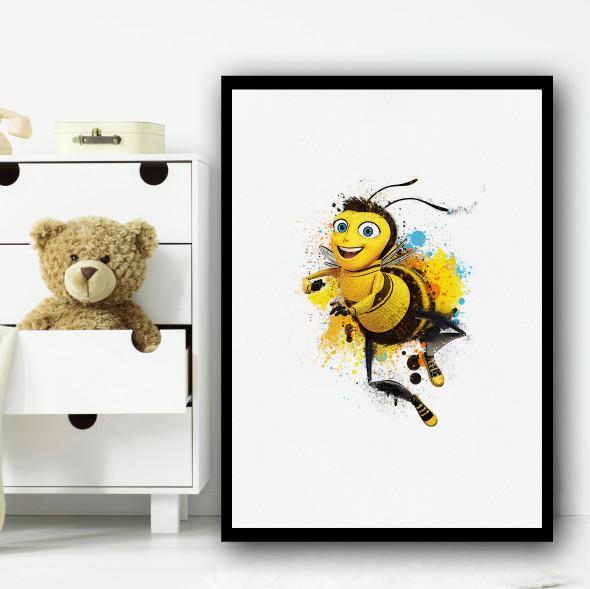 Bee Movie Watercolour Splat Wall Art Print
