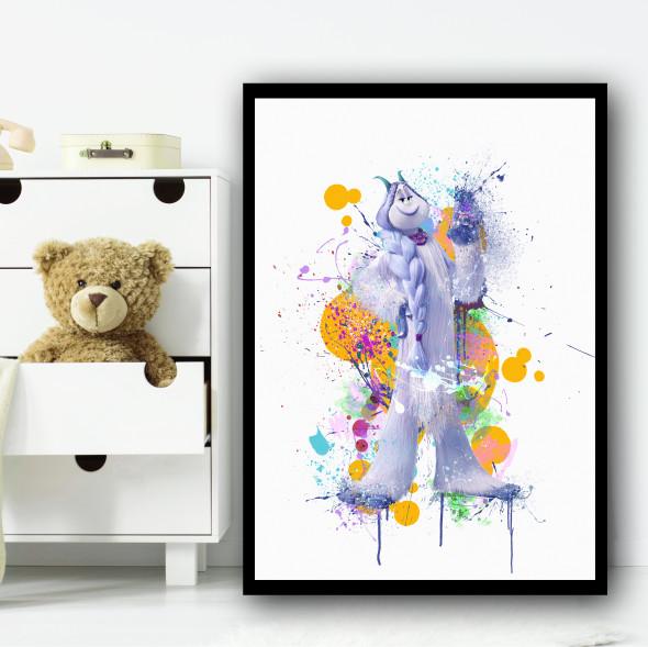 Smallfoot Meechee Splatter Wall Art Print