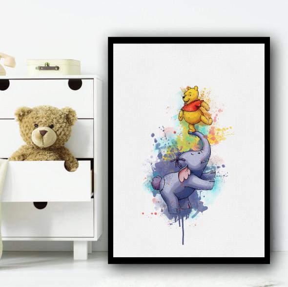 Winnie The Pooh And Lumpy Wall Art Print