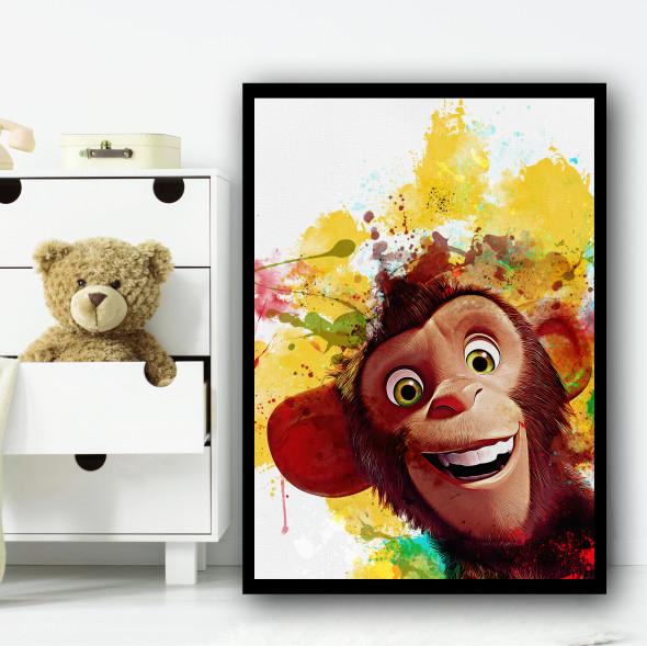Wonder Park Peanut Monkey Wall Art Print