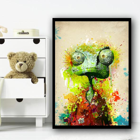 Rango Chameleon Splatter Wall Art Print