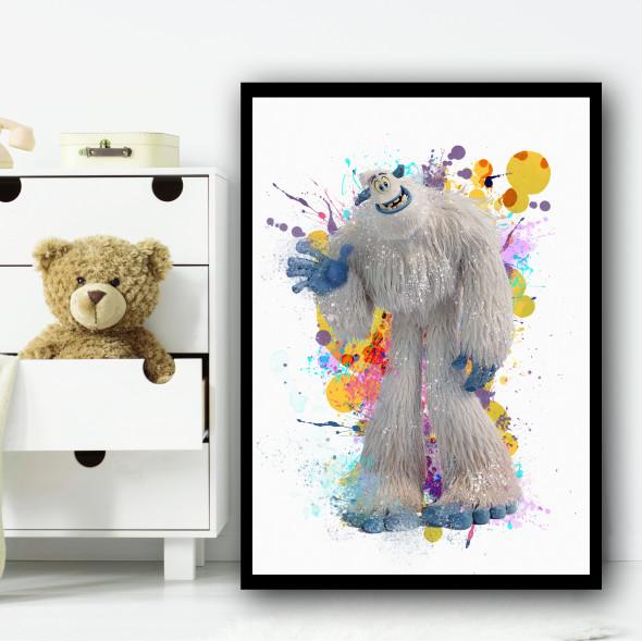 Smallfoot Migo Splatter Wall Art Print