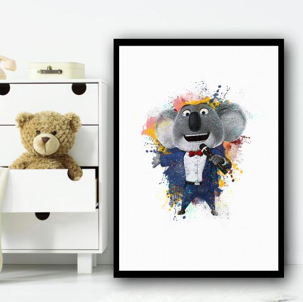 Buster Moon Sing Wall Art Print