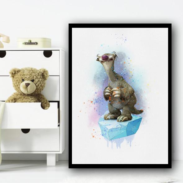 Ice Age Blue Sid Wall Art Print