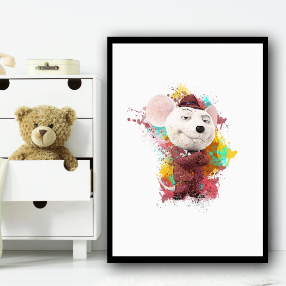 Mike Mouse Sing Wall Art Print