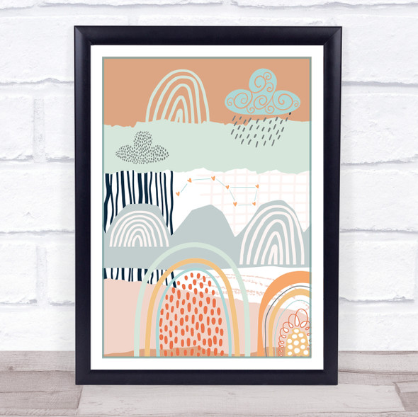 Abstract Rainbow Art Adventure & Dreams Wall Art Print