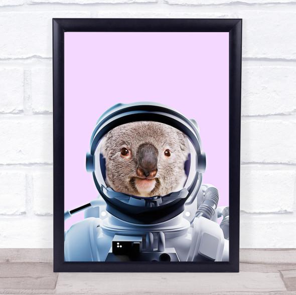 Spaceman Astronaut Koala Bear Wall Art Print