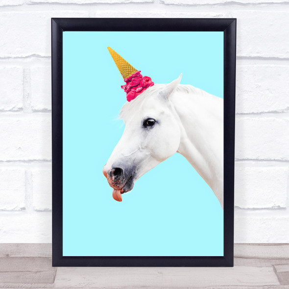 Unicorn Horn Ice-cream Wall Art Print