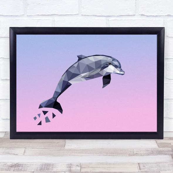 Dolphin Polygon Style Wall Art Print