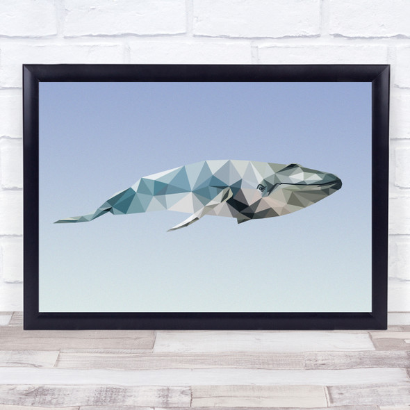Whale Polygon Style Wall Art Print