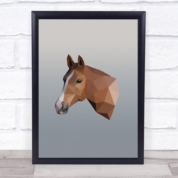 Horse Head Polygon Wall Art Print